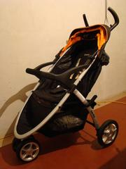 новая коляска детская прогулочная Geoby 05C409 3 колеса,  полог н/ноги