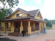 Строительство деревянных домов из клееного бруса, срубов