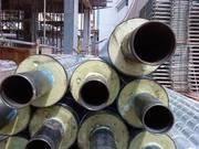 трубы стальные предизолированные ППУ,  пенополиуретановая изоляция труб