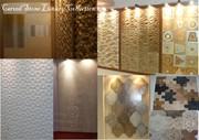 рельефные плиты из натурального камня,  мозаика