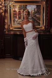 Кружевное свадебное платье,  модель
