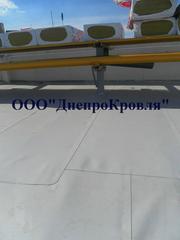 Устройство кровли из ПВХ и ТПО мембраны в Донецке