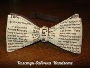 Авторская галстук-бабочка ручной работы,  самовяз. Handsome