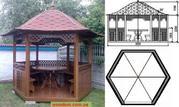Изделия из дерева - садовый декор,  беседки,  ограждения для дачи