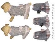 Одежда животным свяжу платье Бабочка