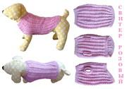 Одежда животным свитер Розовый в интернет-магазине Злата Пряжа