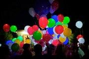 Светящиеся воздушные шары в Донецке