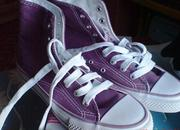 Высокие кеды Reject нежно-фиолетового цвета на шнурках,  размер 36. 5