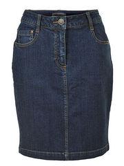Джинсовая юбка BonPrix collection темно-синего цвета,  размер 40,  длина