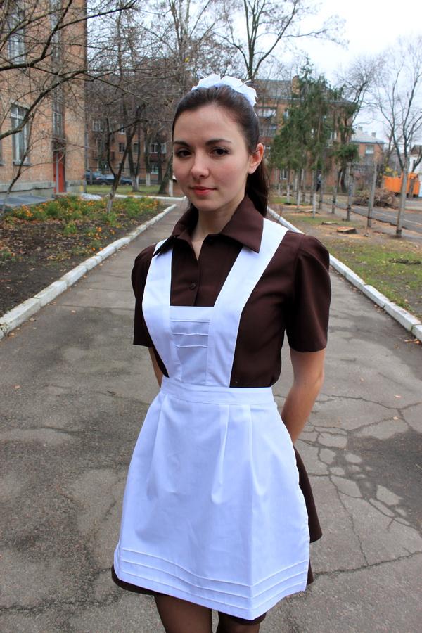 школьные белые фартуки фото