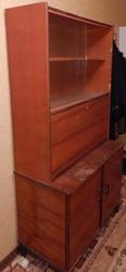 Шкаф - секретер из натурального дерева,  для прихожей,  гостиной