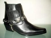 Ботинки казаки Etor зимние мужские.Натуральная цигейка.Стиль качество.