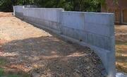 Строительство опорных стен,  фундаментов,  бетонные работы.