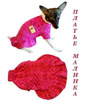Теплое платье собаке Малинка