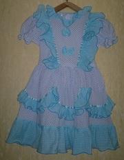 Платье на девочку 30-34 р-р (116-134) ,  б/у