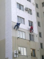 Утепление фасадов.Услуги промышленных альпинистов.