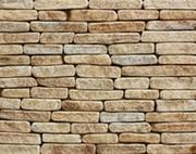 Фасадно-стеновая нарезка окатанная из песчаника