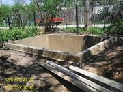 Строительство сливных бетонных ям,  коммуникации.