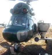Авиаподкормка: внесение аммиачной селитры на рапс и КАС-32 вертолётами самолётами